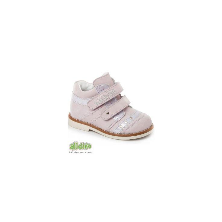 Ботинки демисезонные для девочек сиреневые Alldino, Артикул PV65001, кожа натуральная класса Люкс, подошва Thomas Heel, Страна Сербия
