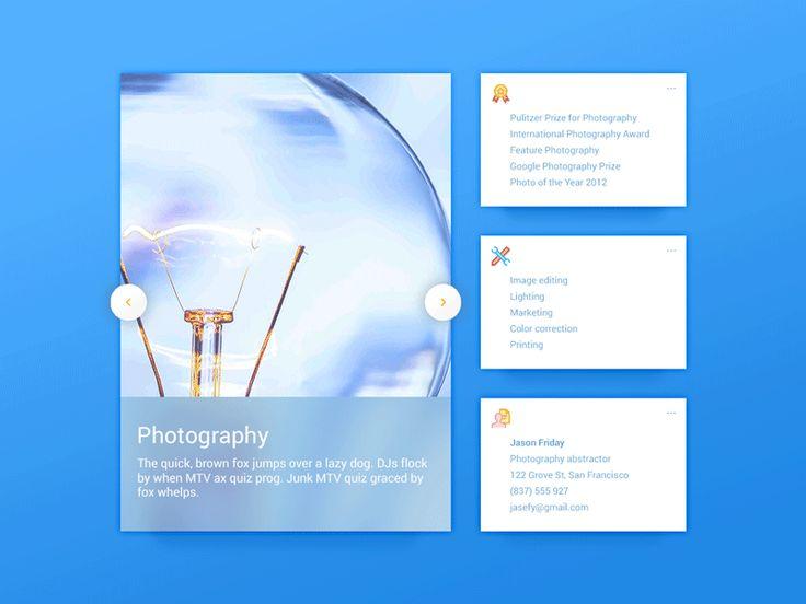 Photography Portfolio UI Elements