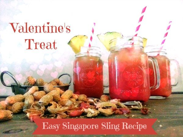 Easy Singapore Sling Recipe for a special Valentine's Day treat