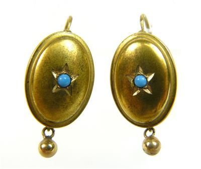 Zlaté Náušnice Biedermeier   eAntik - Starožitnosti