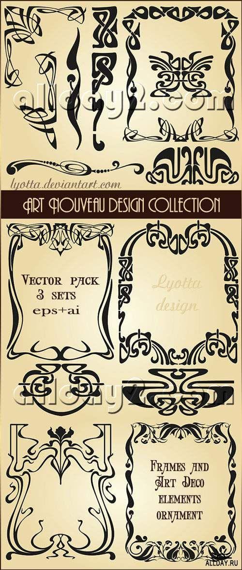 Art Nouveau design collection