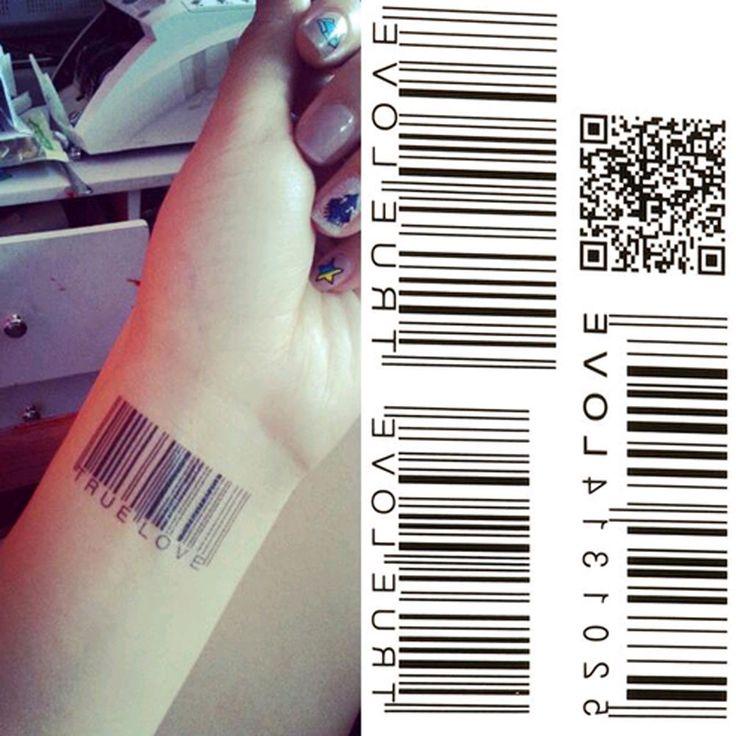 #AliExpress New Water Transfer BarCode Waterproof Temporary Tattoo Sticker Body Art Sexy Product (32751768105) #SuperDeals