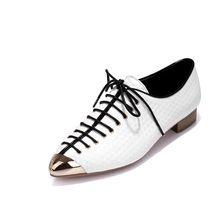 Размер 34 - 39 14 женщины лежа низкая - на высоком каблуке обувь женщины натуральная кожа обувь весна осень с острым носом(China (Mainland))