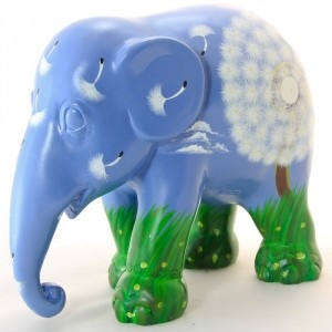 So many elephants to choose from. Love this one aptly called Dandy-phant by Ellen Anderson, From the Elephant Parade
