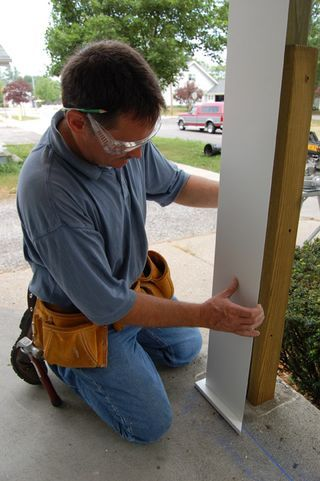 Covering unsightly porch columns
