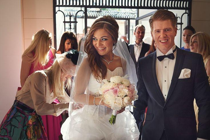 Przepiękna Magda i przystojny Tomasz. Cudowny ślub. Fotografia Piech Dubis