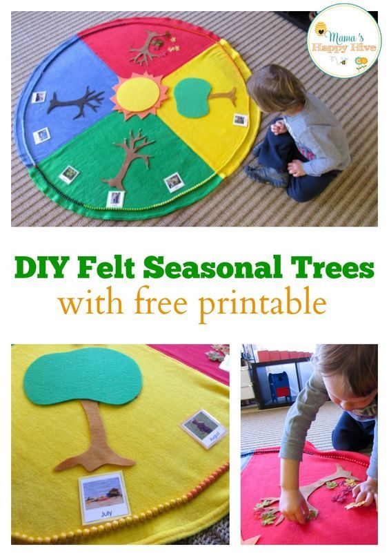 Enjoy 5 Montessori Seasonal Activities that include a beautiful year cycle mat and Montessori year chain. - www.mamashappyhive.com