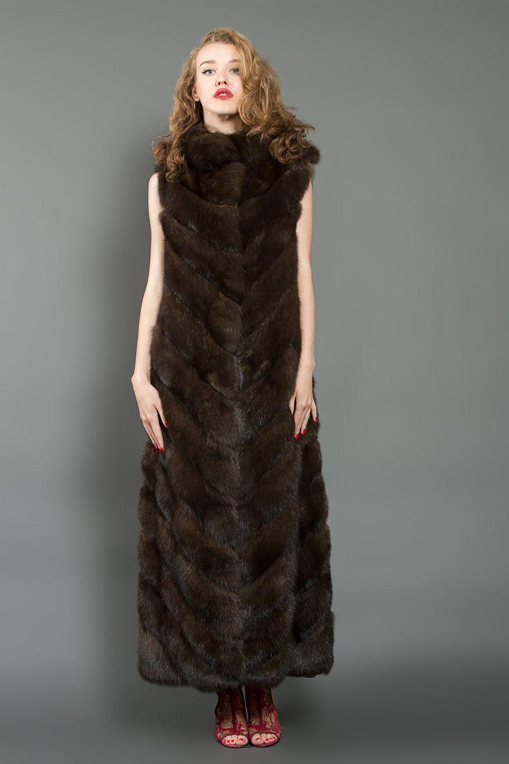 Long Russian Barguzin Sable Fur Vest