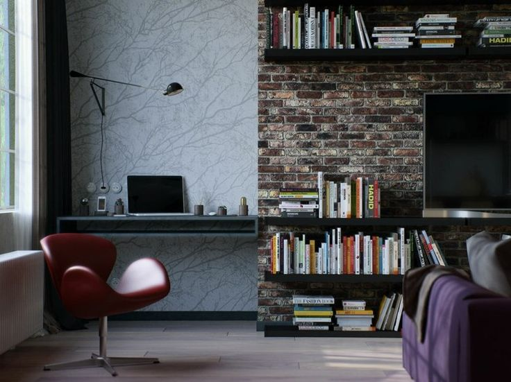 Die besten 25+ Tapeten im industriellen Stil Ideen auf Pinterest - backstein tapete wohnzimmer