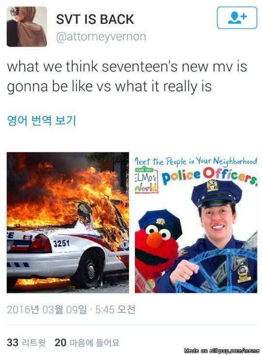 So Seventeen is rumored to have a comeback involving police cars??? | allkpop Meme Center