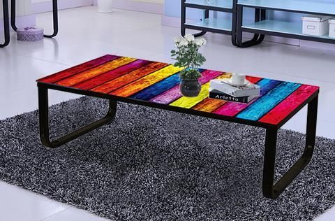 Multi Colour Coffee Table London New York Rainbow Car Pattern Top New Model Fast…