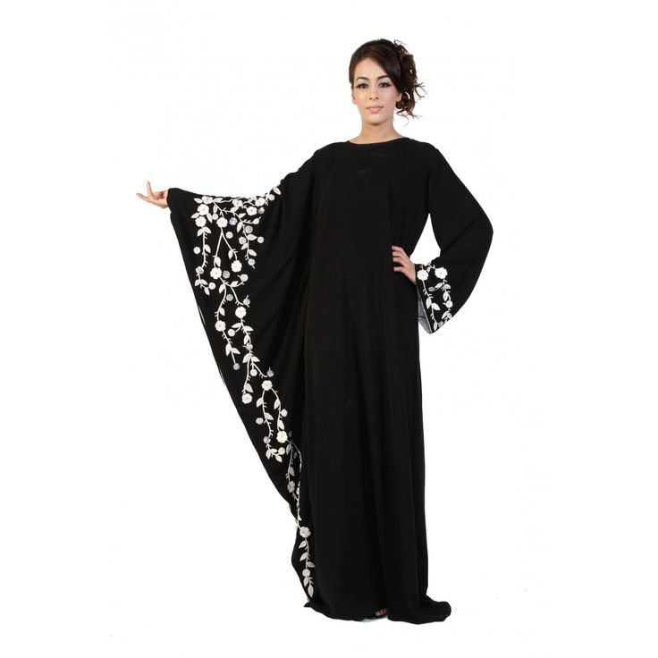 not a tutorial - one side-butterfly-abaya. use meesha tutorial and add a sleeve