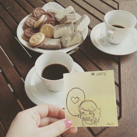 Un caffè con le amiche e una piccola Marta #takeaway
