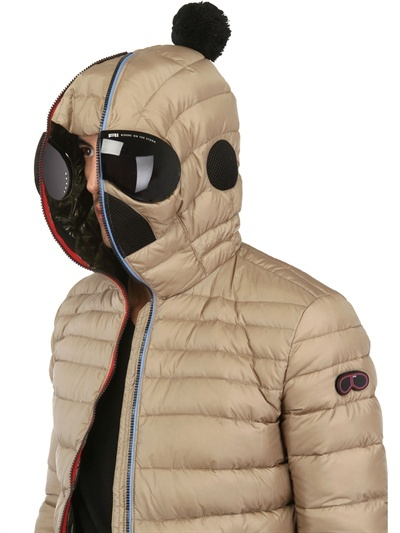 AI RIDERS ON THE STORM - MATT NYLON HOODED DOWN JACKET - LUISAVIAROMA - LUXURY SHOPPING WORLDWIDE SHIPPING - FLORENCE