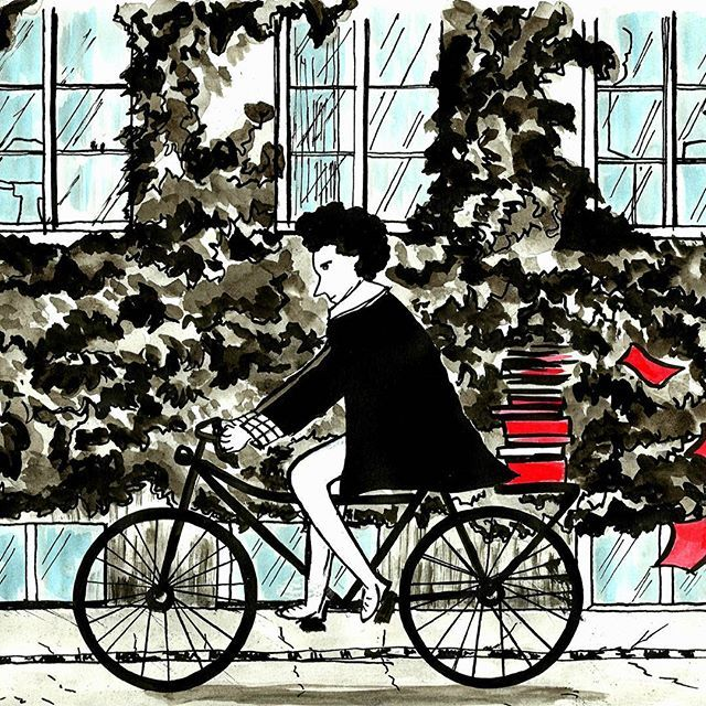 #inktober  #inktober2016  #copenhagen  #travel  #the illustrator #bike
