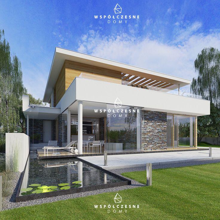 VILLA DESIGN_ nowoczesny dom z płaskim dachem _ projekt do kupienia na www.wspolczesnedomy.pl