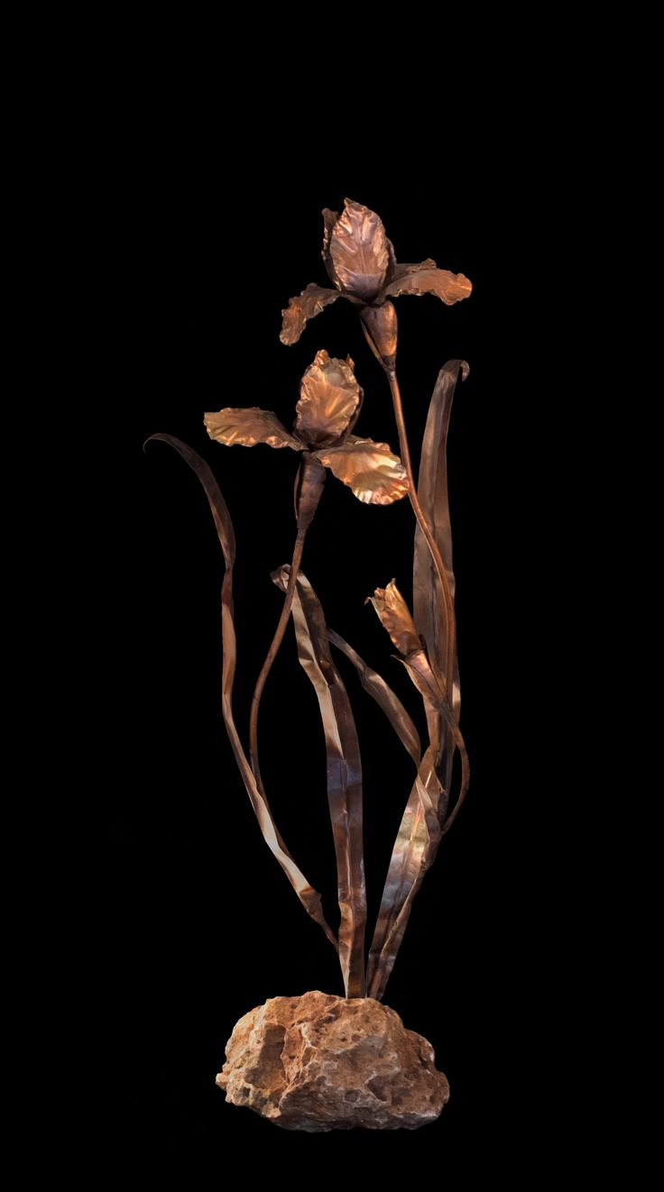 Copper handmade flowers by Sapir Gelman. www.art-copper.com