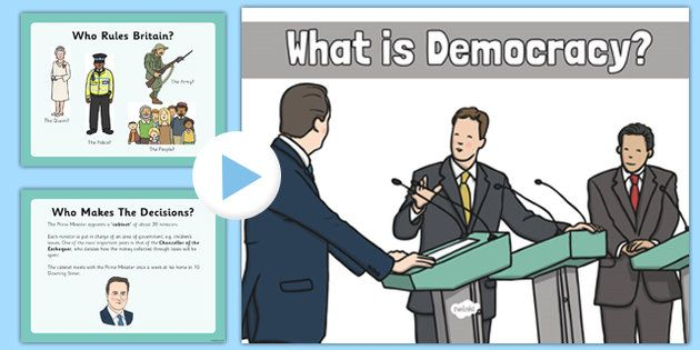 What Is Democracy Presentation - An informative presentation, discussing the basics of democracy. A great start to your children's journey into the world of democracy!
