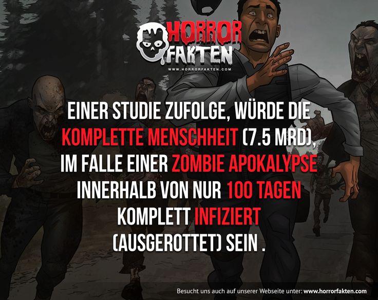 Davon ausgehend, dass ein Zombie jeden Tag mit einer Wahrscheinlichkeit von 90 Prozent einen Menschen beißt #zombie #fakten
