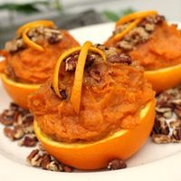 Sweet Potatoes in Orange Cups - Awesome presentation. For the time when I don't have to make a billion