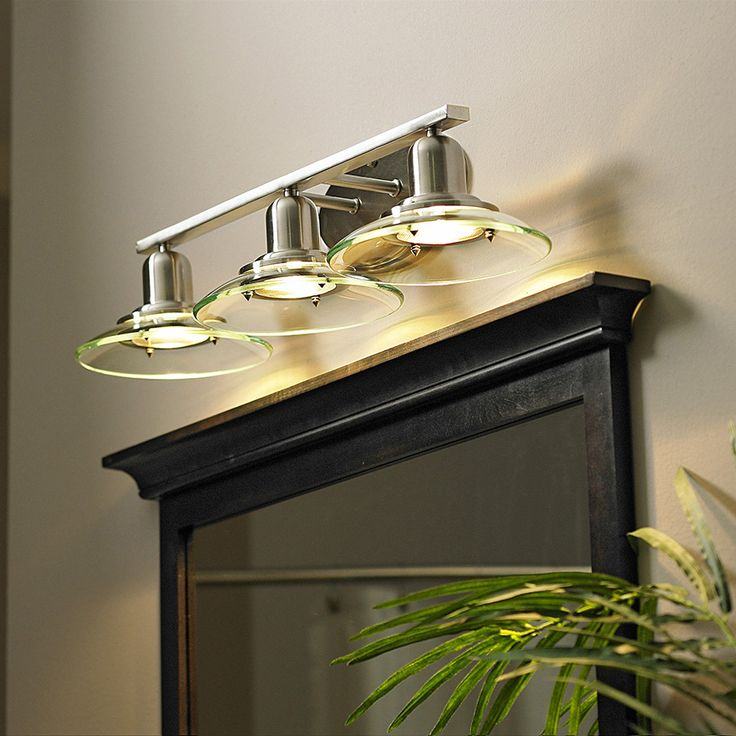 Vanity Light With Outlet Lowes : Shop allen + roth 3-Light Galileo Brushed Nickel Standard Bathroom Vanity Light at Lowes.com ...