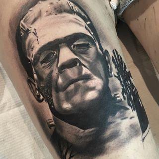 Frankenstein's monster tattoo.