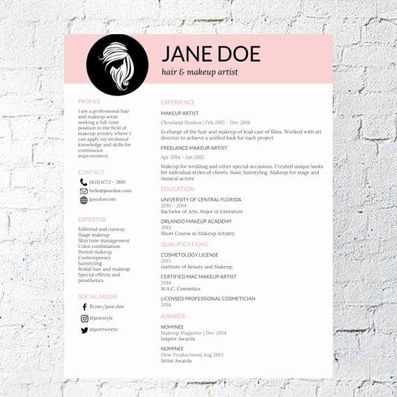 Make Up Artist Resume Inspirational Hair Stylist Makeup Artist Resume Template Google Document Makeup Artist Resume Artist Resume Freelance Makeup Artist