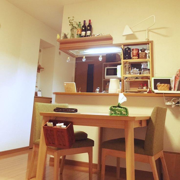 ティッシュカバー/植物/無印良品 壁に付けられる家具/無印良品/電球型瓶…などのインテリア実例 - 2015-04-15 20:31:48   RoomClip(ルームクリップ)