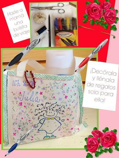 Hazle a mamá una hermosa bolsita decorada por ti y tus productos #AZOR, ¡le encantará!