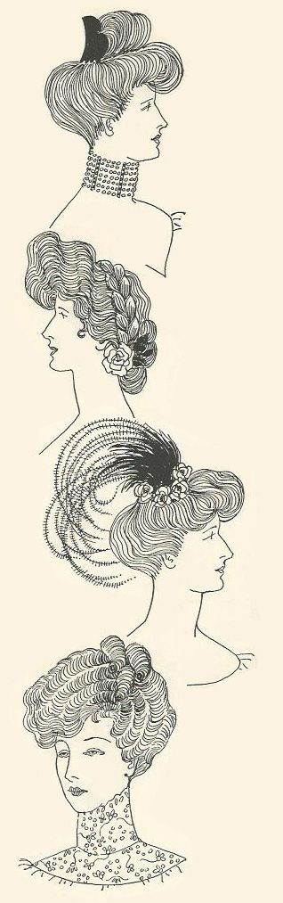 Edwardian hair and accessories