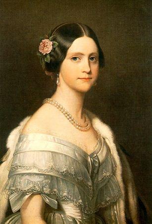 Princesa Maria Amélia de Brasil. Hija de Pedro I de Brasil y de Amélie de Leuchtenberg. Maria Amélia se comprometió con el archiduque Maximiliano de Austria a principios de 1852, pero antes de que el matrimonio podría tener lugar contrajo tuberculosis y murió el 4 de febrero de 1853. Frans Xavier Winterhalter. 1849