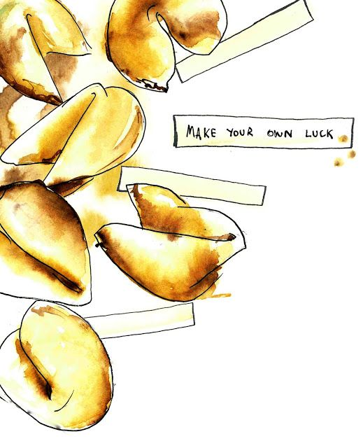 fortune cookie illustration, timballoo