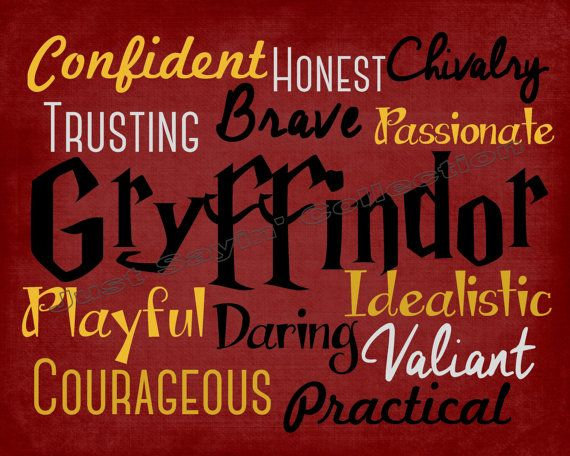This print embodies the unique traits of the House of Gryffindor. This listing is for an instant digital download. You will receive three high-resolution JPGs (the same print in 5x7, 8x10, and 11x14) upon checkout. No physical print will be sent to you.  *Prints are for personal use only. Please do not share the files with anyone.  If you have any questions, please feel free to send me a message through etsy convo.    Store Home: http://www.etsy.com/shop/JustSayinCollection  All Harry Potter…
