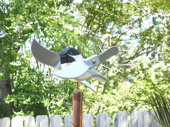Chickadee Wooden Whirligigs Whirligig Whirly gig by MarqMyWood