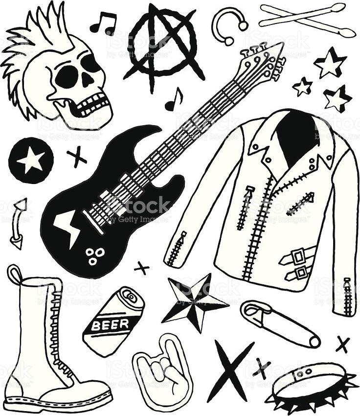 Картинки по запросу рок рисунок   Панк-рок, Панк, Рисунок