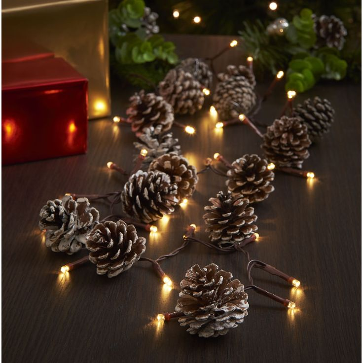 Nice Bring The Outside Inside With This #festive Light Up Pine Cone Garland. # Christmas
