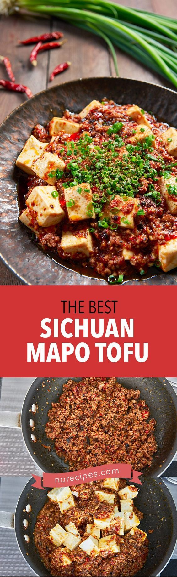 Mapo Tofu (麻婆豆腐) is a fiery Sichuan pork and tofu stir-fry with the hallmark málà balance of tongue tingling and spicy. This easy to follow recipe breaks it down and comes together in under 15 minutes. #sichuan #tofu #stirfry