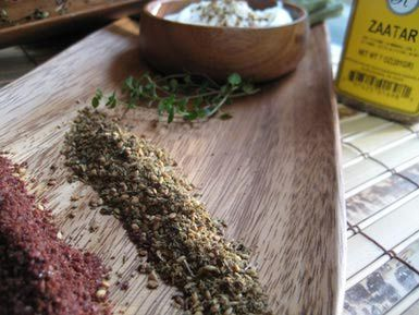 Za'atar Middle Eastern Spice Mixture Recipe (can substitute lemon zest for sumac:http://ifood.tv/ingredients/356469-sumac-substitutes-best-sumac-substitutes