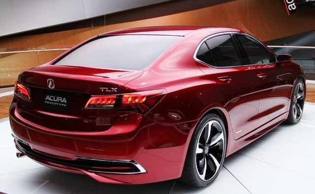 2017 Acura TLX rear taillights and badges