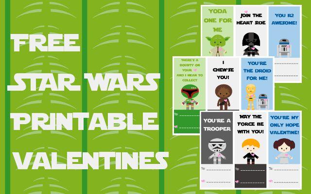 Free Star Wars Printable Valentines #Valentine #printable