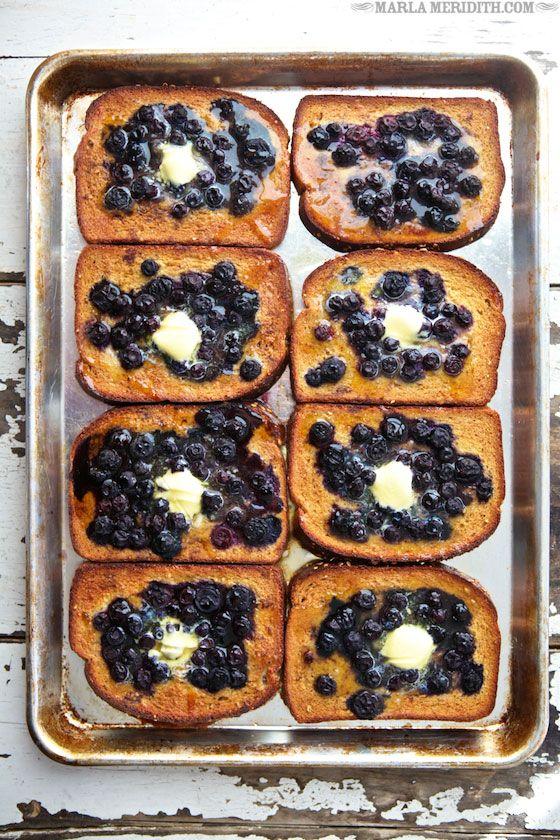 baked blueberry french toast.