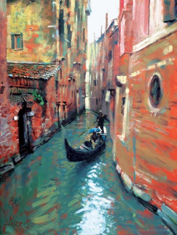 Gondola in the rain, Venice  Rolf Harris