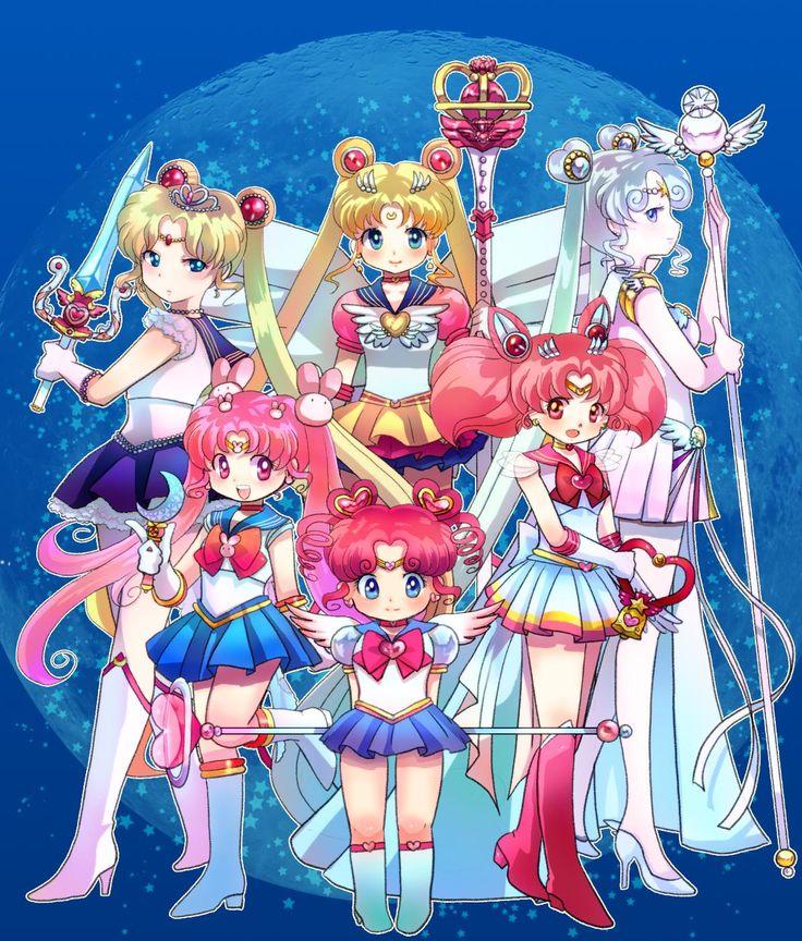 Sailor Moon Series- Sailor Moon, Princess Serenity, Sailor Cosmos, Chibi Moon, Kousagi (Sailor Parallel Moon), Chibi Chibi Moon