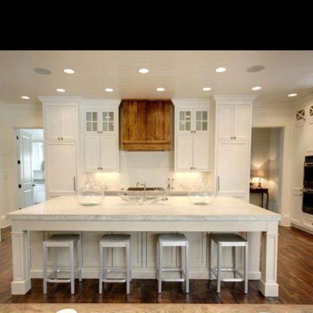 Take away my pendant lights over my island i like this cleaner look