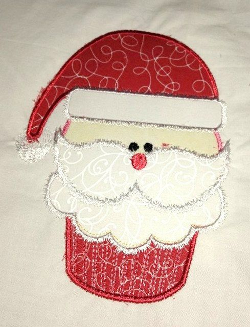 Christmas Santa Cupcake Machine Applique Embroidery by KCDezigns, $3.99