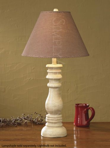 Farm market candlestick lamp by park designs cream with finial crackle finish