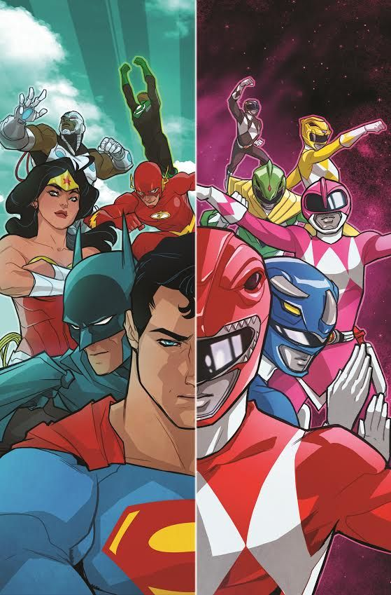 Justice League/Power Rangers Comic Crossover Coming  The Justice League members are going to meet the Mighty Morphin Power Rangers in a six-issue comic book mini-series crossover.  DC Entertainment will be teaming with BOOM! Studios and Saban Brands to make the meeting of these two iconic teams happen. Launching on January 11 Justice League/Mighty Morphin Power Rangers will be written by Tom Taylor (Injustice: Gods Among Us) and drawn by Stephen Byrne (Justice League of America: The Ray)…
