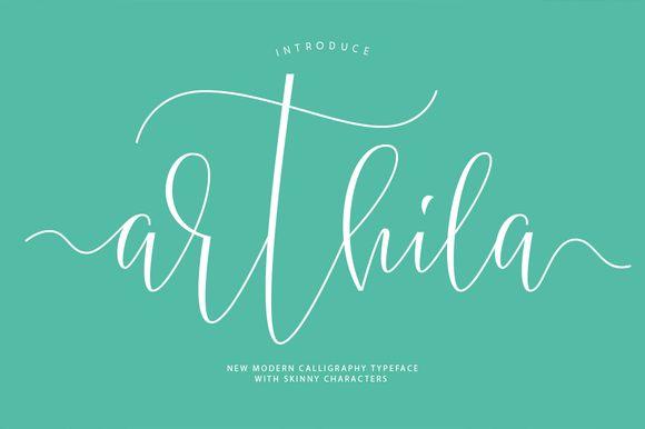 Arthila Script-50% OFF by COB on @creativemarket
