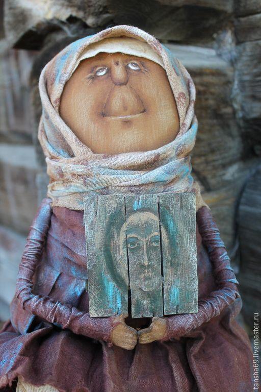 Купить Лики... - коричневый, примитивная кукла, текстильная кукла, ароматизированная кукла, интерьерная кукла, икона