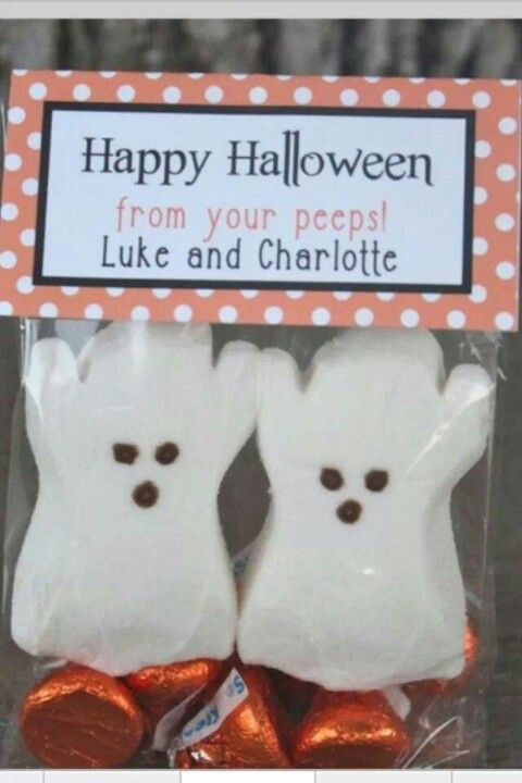 Ghost peeps are a fun excuse to pop by your favorite clients around Halloween! #fall #Halloween #realestate #gifts
